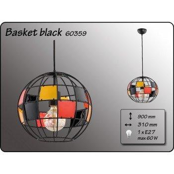 Висящо осветително тяло серия -  Basket Black