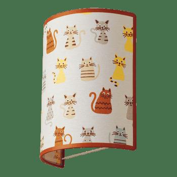 Осветително тяло за детска стая аплик Cats 1xE27
