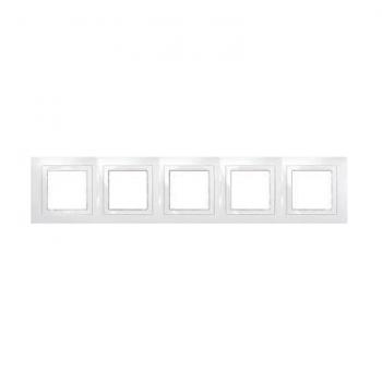 Schnaider СЕРИЯ UNICA » BASIC 5-НА РАМКА MGU2.010.18 UNICA