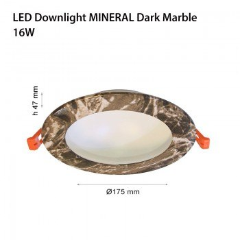 LED ЛУНИ MINERAL DARK MABLE 8W /16W, 4000K