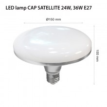 LED ЛАМПА CAP SATELLITE E27 24-36W