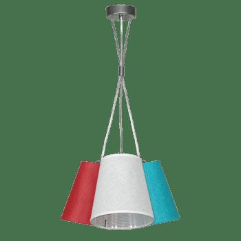 Осветително тяло за таван серия - Arno 3хЕ27 Корал, Бяло, Тюркоаз