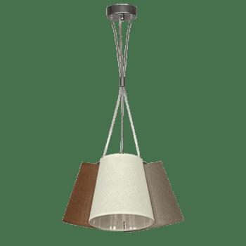 Осветително тяло за таван серия - Arno 3хЕ27 Кафяв, Крем, Пепел