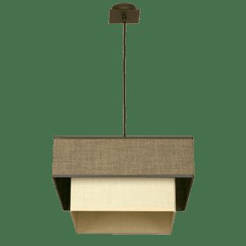 Осветително тяло тип пендел серия - Alba 1xE27 квадрат