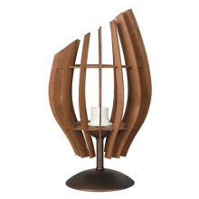 Настолна лампа ТЮЛИП патина + орех, 1xE27 252131
