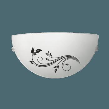 Осветително тяло за стена аплик серия - Gardenia Бяло/ черно
