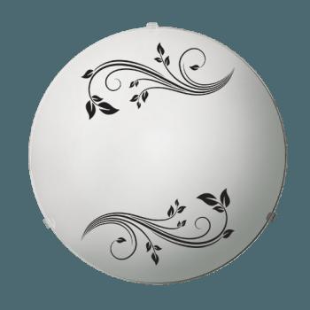 Осветително тяло за таван плафон серия - Gardenia ф300 Бяло/черно