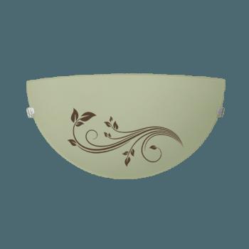 Осветително тяло за стена аплик серия - Gardenia Кафяво/екро