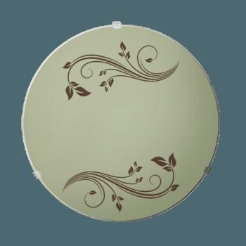 Осветително тяло за таван плафон серия - Gardenia ф300 Кафяво/екро