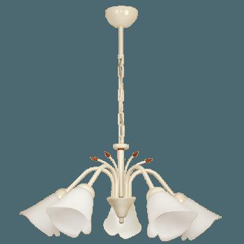 Висящо осветително тяло полилеи серия - Kamelia 5xE27 Крем
