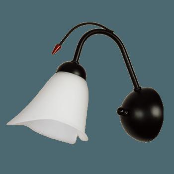 Осветително тяло за стена серия - Kamelia 1xE27 Черно