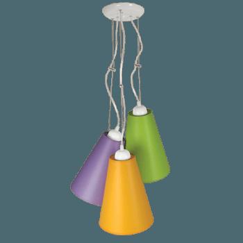 Висящо осветително тяло 3-ка пендел серия - Pisa, абажур Shints