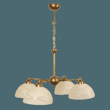 Висящо осветително тяло полилеи серия - Veronika 4xE27, Старо злато