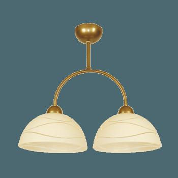 Осветително тяло за таван полилей серия - Veronika 2xE27, Старо злато