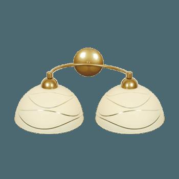 Осветително тяло за стена серия - Veronika 2xE27, Старо злато