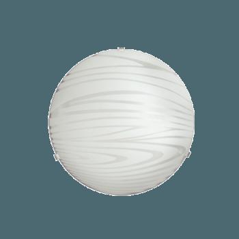 Осветително тяло за таван плафон серия - Curve ф300 Бяло