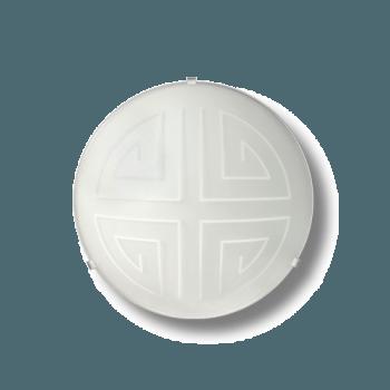 Осветително тяло за таван плафон серия - Maze ф300 Бяло мат