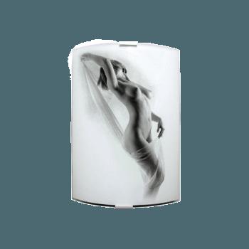 Осветително тяло за стена аплик серия - Erotic Бяло/черно