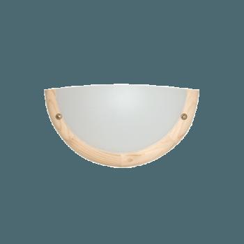 Осветително тяло за стена аплик серия - Wood Ring - 010101- светъл бор