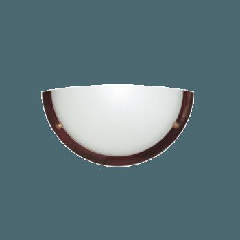 Осветително тяло за стена аплик серия - Wood Ring - 010106 - махагон