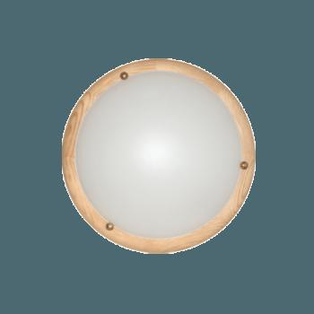 Осветително тяло за таван плафон серия - Wood Ring - 010201 - светъл бор