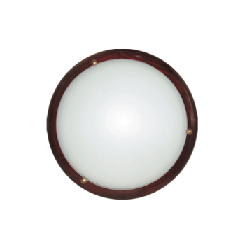 Осветително тяло за таван плафон серия - Wood Ring - 010206 - махагон
