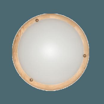 Осветително тяло за таван плафон серия - Wood Ring - 010301 - светъл бор