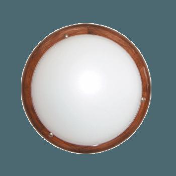Осветително тяло за таван плафон серия - Wood Ring - 010302 - тъмен бор