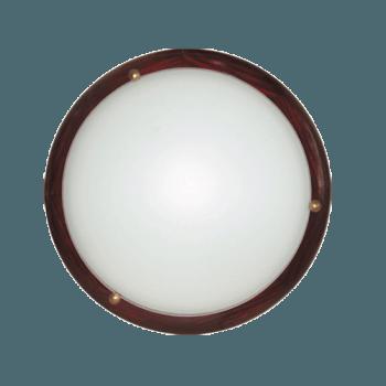 Осветително тяло за таван плафон серия - Wood Ring - 010306 - махагон