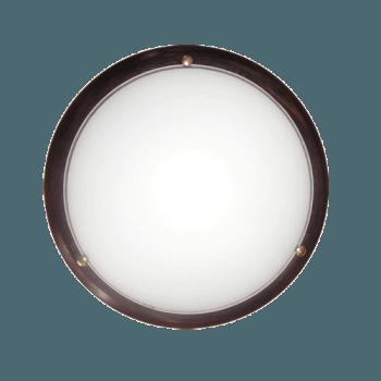 Осветително тяло за таван плафон серия - Wood Ring - 010314 - венге