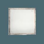 Осветително тяло за таван плафон квадрат серия - Wood Retro - 102503 - ретро бял