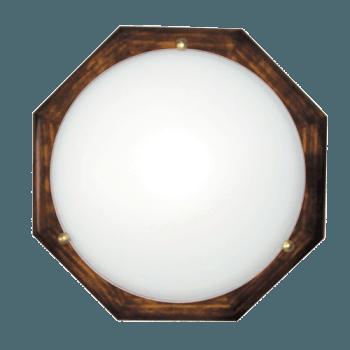 Осветително тяло за таван плафон серия - Wood Figure - 010305 - тъмен бор
