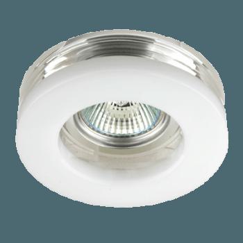 Луна стъклена стационарна кръгла стъкло с бяло