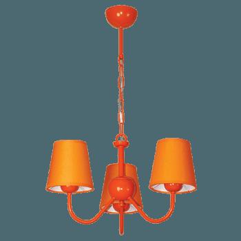 Висящо осветително тяло серия - Rainbow 3x60W  оранжев