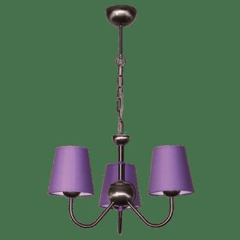 Висящо осветително тяло серия - Tuist 3x60W лилав