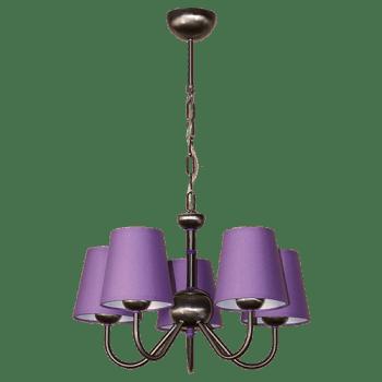 Висящо осветително тяло серия - Tuist 5x60W  лилав