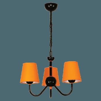 Висящо осветително тяло серия - Tuist 3x60W оранжев