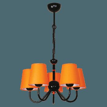 Висящо осветително тяло серия - Tuist 5x60W  224605 оранжев