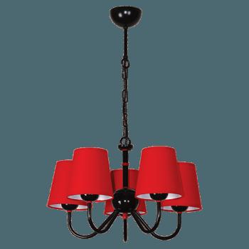 Висящо осветително тяло серия - Tuist 5x60W  224805 червен