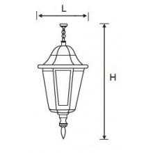 Градински фенер NOA P/GB E27
