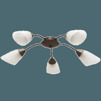 Осветително тяло за таван полилеи серия - Sigma 5xE14, Патина
