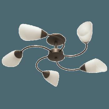 Осветително тяло за таван полилеи серия - Aura 5xE14, Патина