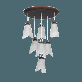 Висящо осветително тяло полилеи серия - Orlando platina