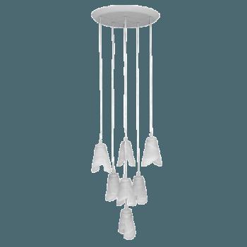 Висящо осветително тяло полилеи серия - Orlando titanium