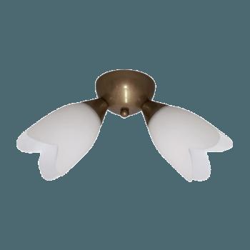 Осветително тяло за таван полилеи серия - Spring 2xE14, Старо злато
