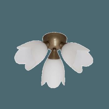 Осветително тяло за таван плафон серия - Spring 3xE14, Старо злато