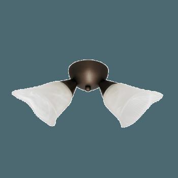 Осветително тяло за таван плафон серия - Spring 2xE14, Патина