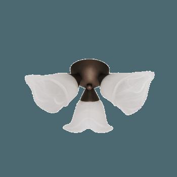 Осветително тяло за таван полилеи серия - Spring 3xE14, Патина
