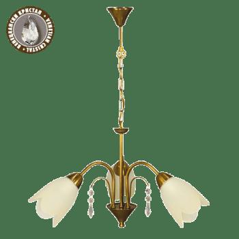 Висящо осветително тяло полилеи серия - Fiona gold