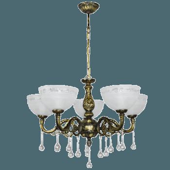Висящо осветително тяло полилеи серия - Colosseum brass